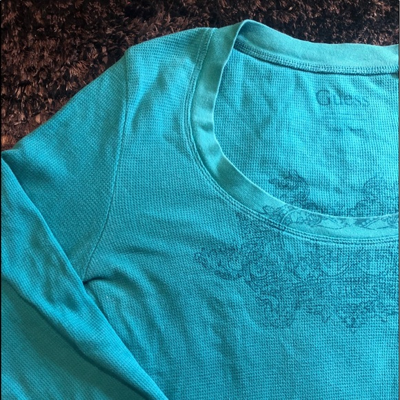 Guess Tops - Guess Blue Thermal Long-Sleeve Top
